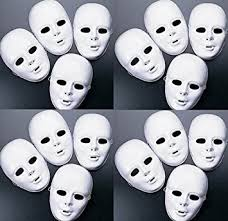Plastic Masks To Decorate Amazon Lot of 60 MASKS White Plastic Full Face Decorating 5