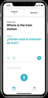translate voice and text on iphone