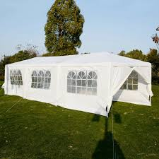 lomic outdoor 10x30 party wedding tent folding canopy gazebo pavilion catering events white easy set bbq wedding tent