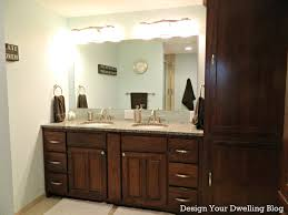 Bathroom Vanity Lights Saber Bath Bar A Modern Bathroom With - Bathroom lighting pinterest
