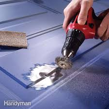 garage door dent repairSteel Door Repair Repair a Dented Steel Door  Family Handyman