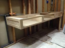 reclaimed bathroom furniture. Bathroom Furniture Double Vessel Sinks Espresso Dark Gray Small Log Cabin Reclaimed Vanity Corner Metal Wood Flooring Tile Backsplash Quartz