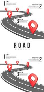 Road Infographic Vector Template Business Infographic Business