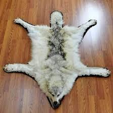 lion head rug wolf hide rug for faux lion head rug