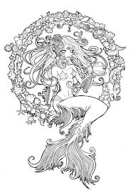 Small Picture Intricate Mermaid Coloring Pages Coloring Coloring Pages