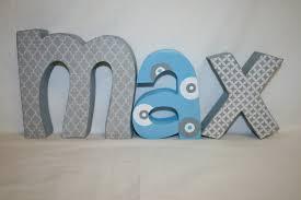 custom wood letters 3 letter set nursery decor wooden