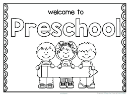 Welcome To Kindergarten Coloring Page Backpack Back To School