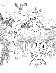 These pokemon coloring pages allow kids to accompany their favorite characters to an adventure land. Pokemon X And Y Coloring Pages Printable Coloring Home