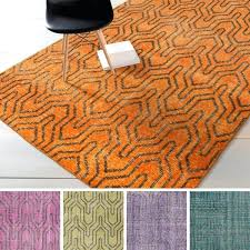 hand knotted contemporary wool area rug rugs design