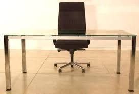 chrome office desk. Glass Office Desk With Chrome Frame Top L Shaped
