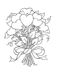 Coloring page fun coloring pictures of flowers and hearts coloring pages