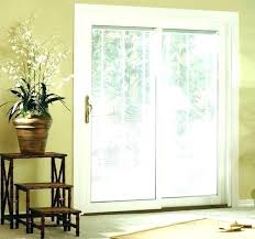 sliding doors with built in blinds pella reviews door interior cost