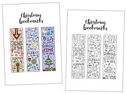 Free, printable christmas coloring pages! Coloring Christmas Bookmarks Free Printable