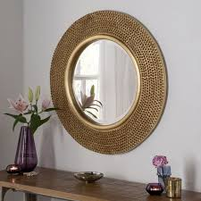 rome large round new wall mirror modern gold frame art deco studded 31 diam