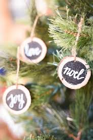 diy rustic wood slice ornaments our handcrafted life