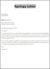 Apologize Business Letter Sample Of Apology Letter Scrumps