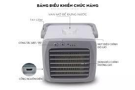 Quạt hơi nước mini quạt điều hòa không khí mini quạt thổi hơi nước đá QST  dùng điện 5V usb để bàn nhỏ gọn chống khô da điều hòa giảm nhiệt độ
