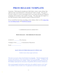 Sample Press Release Template Lovely 9 Best Of Press Release Form