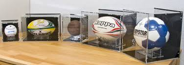 Rugby Ball Display Stand New Basketball Display Case With Black BackPanel Basketball Sports