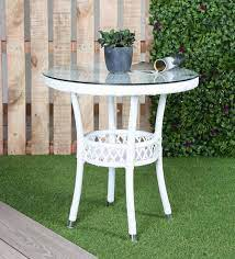 evon outdoor coffee table in white