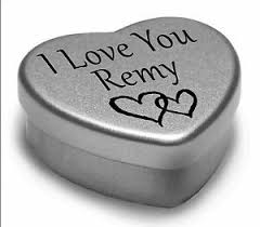 I Love You Remy Mini Heart Tin Gift For I Heart Remy With ...