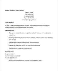 Compliance Analyst Resume Amazing 60 Free Banking Resume Templates PDF DOC Free Premium Templates