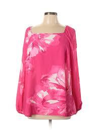 Details About Inc International Concepts Women Pink Long Sleeve Blouse 0x Plus