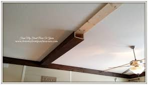 faux ceiling beams diy.  Ceiling First Beam Installed Onto Living Room Ceiling At From My Front Porch To  Yours Throughout Faux Ceiling Beams Diy S