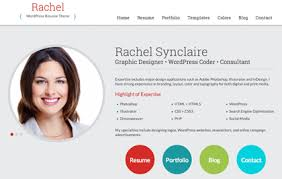 Rachel Wordpress Resume Theme Mobile Responsive Wordpress And