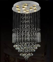 led k9 crystal rain drop ceiling lamp lighting pendant light modern chandelier