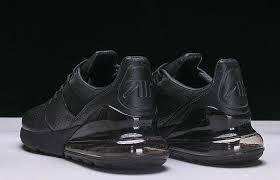 original nike air max 270 premium leather all black ao8283 010 men s casual shoes