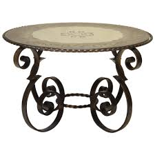 table basse ronde art deco 1940 fer forge