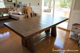rustic dining table diy. DIY Rustic Dining Table Is DONE!!! {www.somethingisdone.com} Rustic Dining Table Diy -