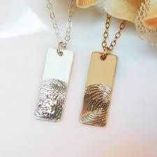 fingerprint necklace actual baby fingerprint custom engraved keepsake fingerprint family memorial jewelry wife push gift 18 235