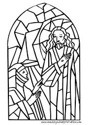 Religious Stained Glass Coloring Pages Free Christian Coloring Pages