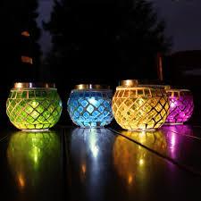 lighting jar. SuperLED Solar Garden Mosaic Jar Lights, 4-Pack, + Candle Flicker Effect Lighting