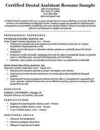 Orthodontic Assistant Resume Sample Dental Resume Examples Writing Tips Resume Companion