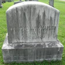 Iva Boyd Lusk Maples (1885-1919) - Find A Grave Memorial