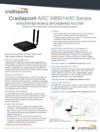 cradlepoint mbr1400 manual dcitech com cradlepoint mbr1400 datasheet