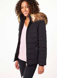 Black Puffer Coat - JacketIn & Black Quilted Puffer Coat - View All - Clothing - Miss Selfridge Adamdwight.com