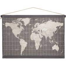 gray map tapestry wall decor hobby