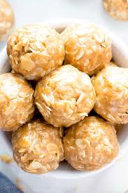 no bake peanut butter balls recipe. Unique Recipe 4 Ingredient No Bake Peanut Butter Coconut Energy Bites V GF A Inside Balls Recipe