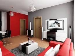 red and white themed living rooms
