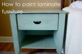 how i paint laminate furniture