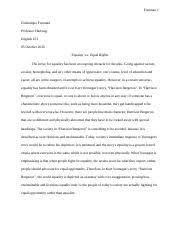 unit part of the test marie jackson date graded  4 pages essay 4 equality vs equal rights