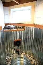 galvanized showers corrugated metal shower walls diy galvanized shower walls acrylic