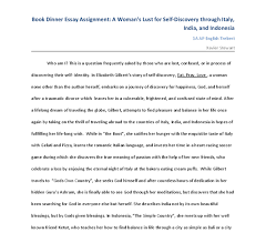 book essay in elizabeth gilberts story of self discovery eat  document image preview