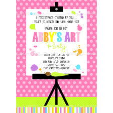 painting art party printable invitation