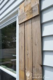 diy wooden rustic shutters