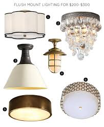 flush mount lighting fixtures for 200 300 robert abbey axis aged brass ceiling light lamps plus
